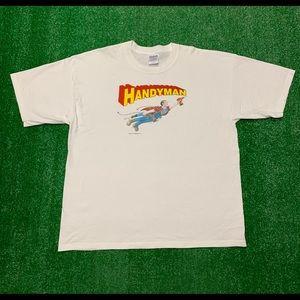 Vintage 2000s Handyman Superman Superhero Shirt
